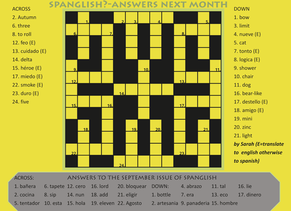 olive press spanglish crossword